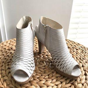 Paul Green Booties Tacey Perforated Peep Toe Heels